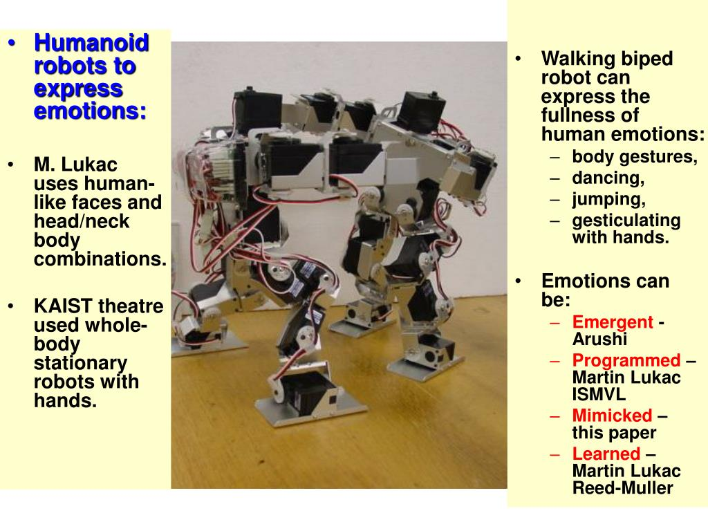 Humanoid robots to express emotions: