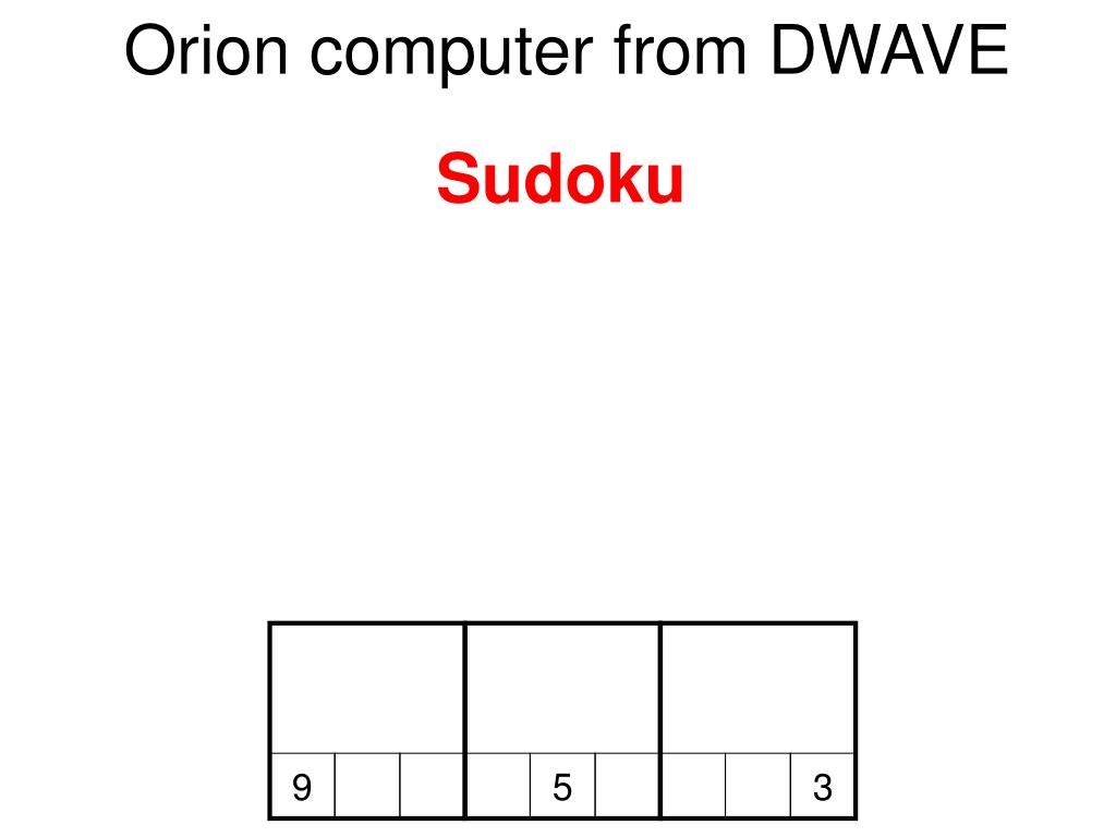 Orion computer from DWAVE
