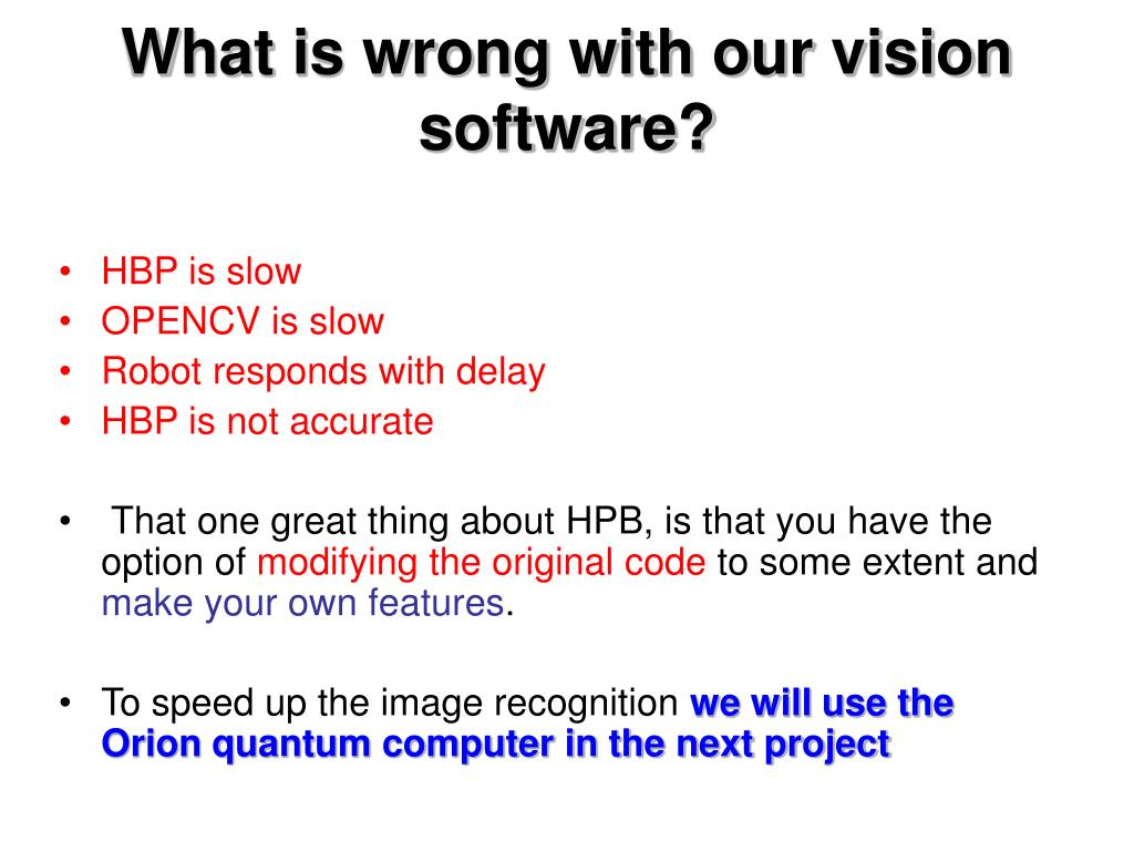 What is wrong with our vision software?