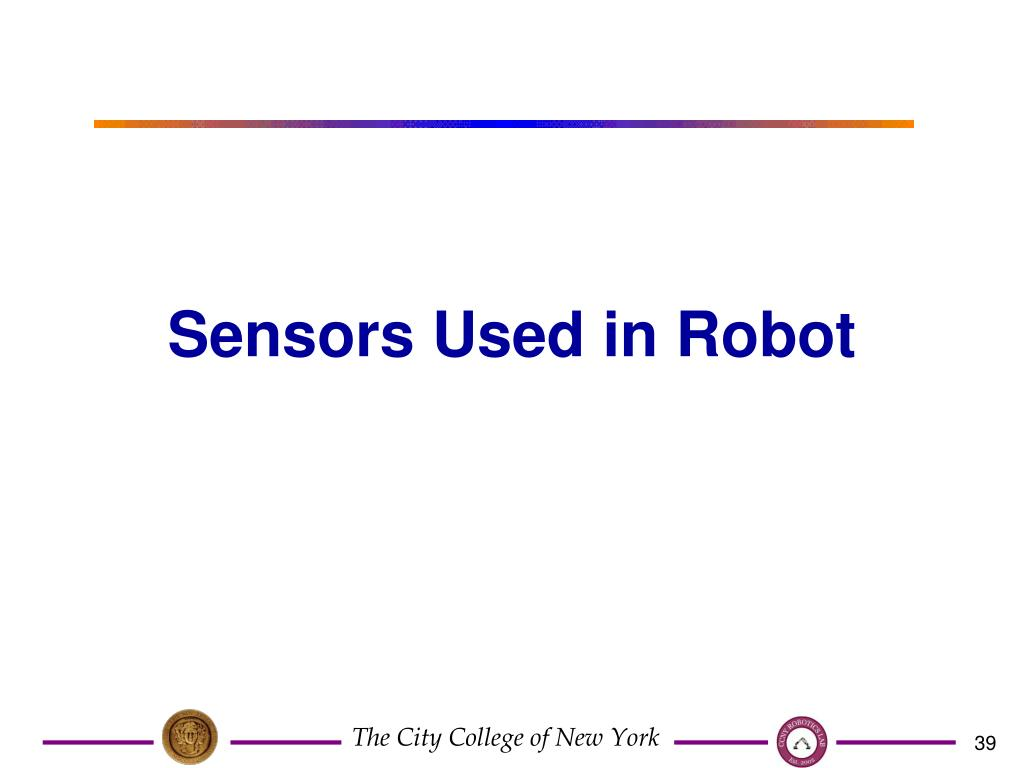 Sensors Used in Robot