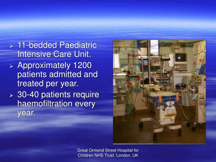 11-bedded Paediatric Intensive Care Unit.