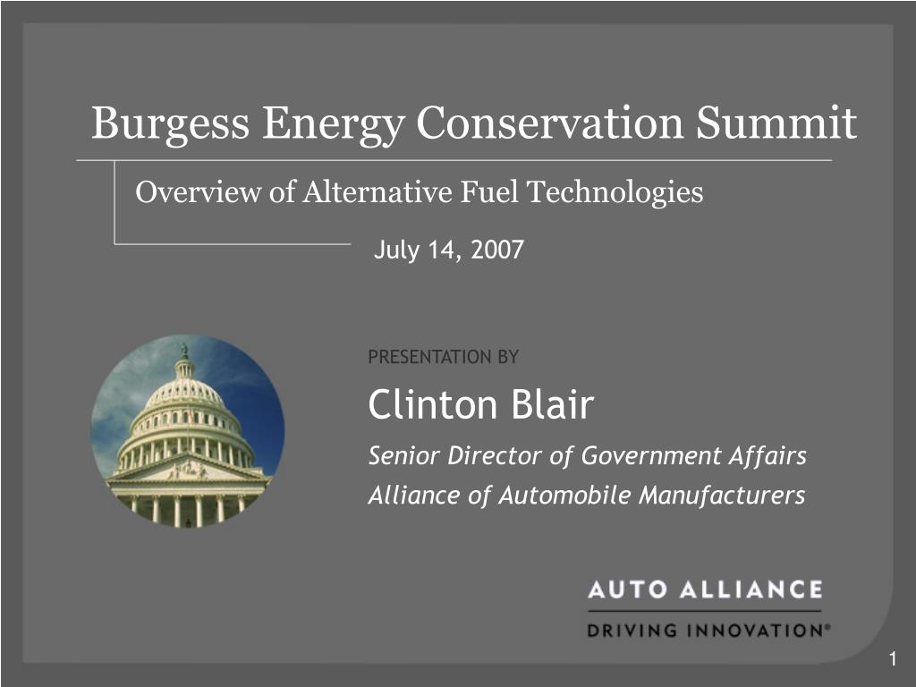 Burgess Energy Conservation Summit