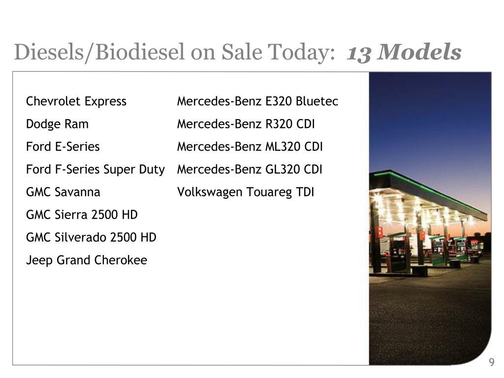 Diesels/Biodiesel on Sale Today: