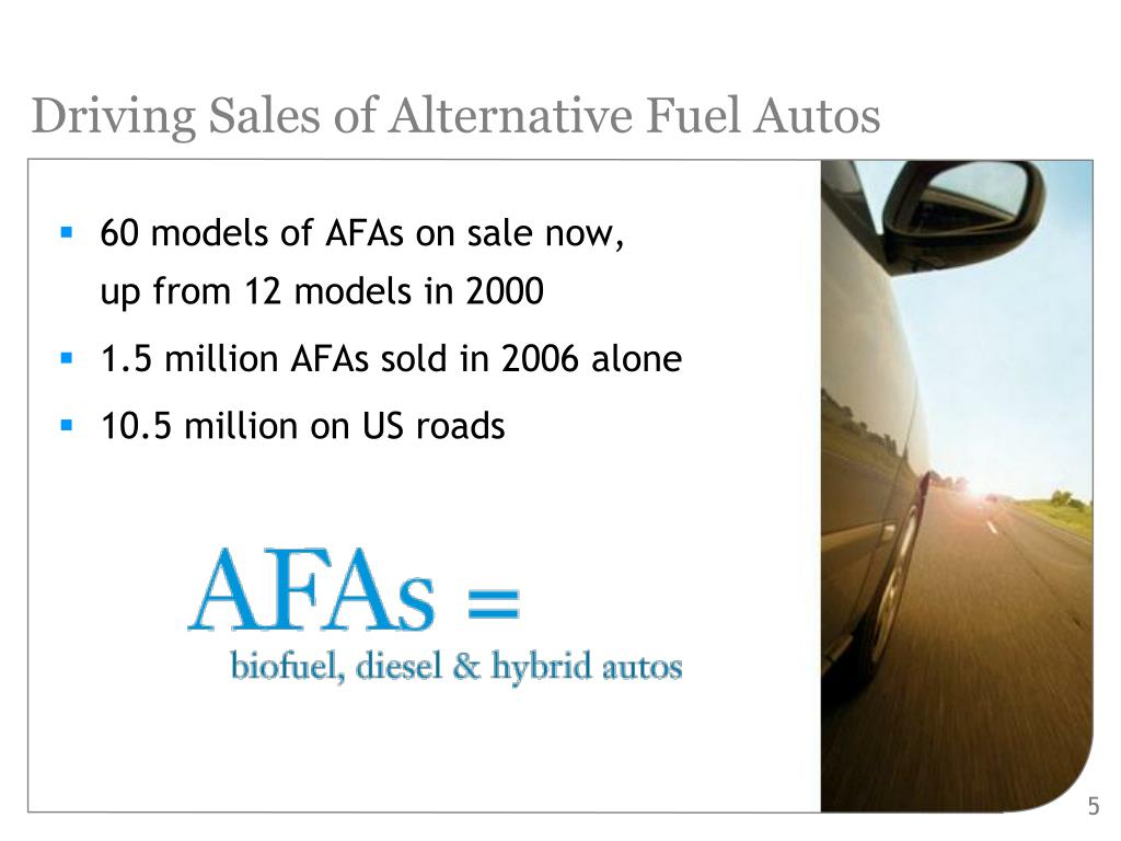 Driving Sales of Alternative Fuel Autos