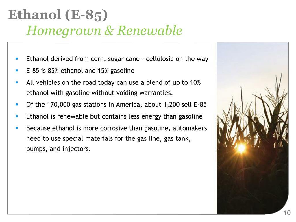 Ethanol (E-85)