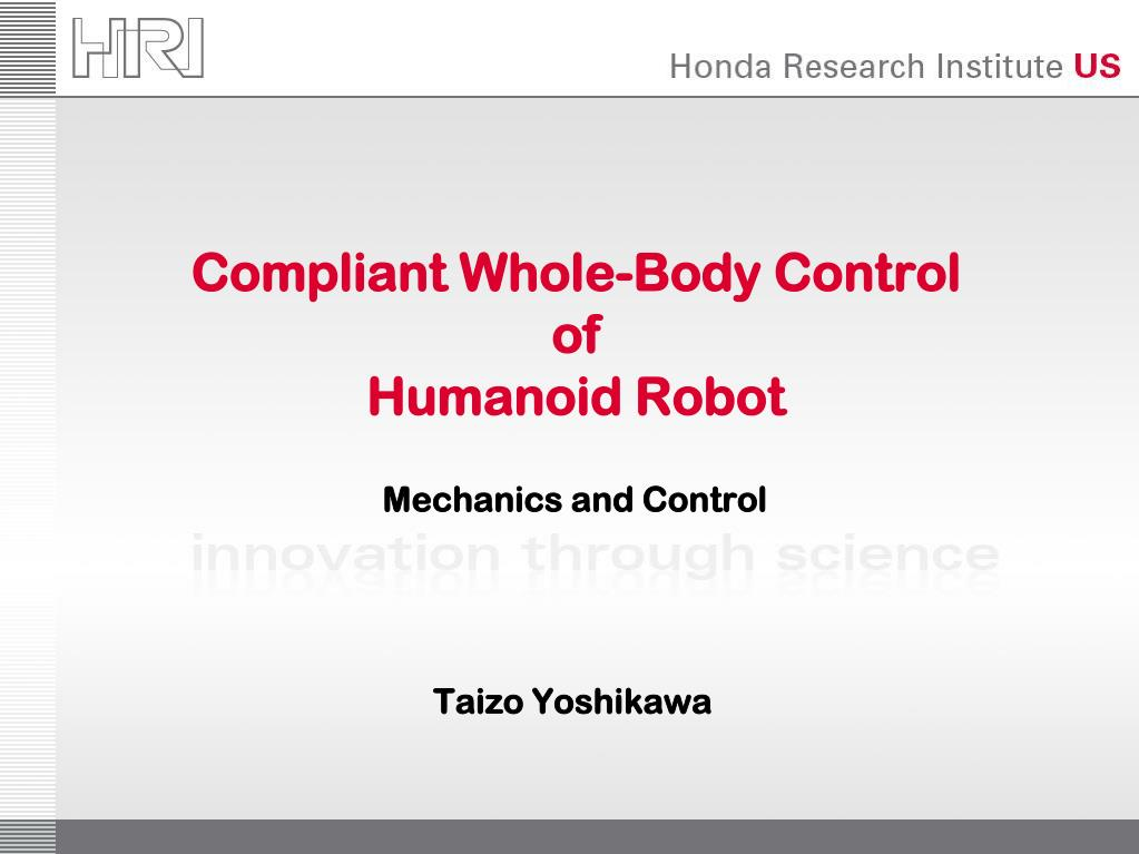 Compliant Whole-Body Control