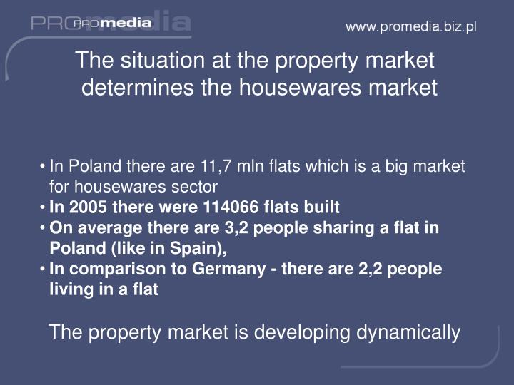 The situation at the property market determines the housewares market