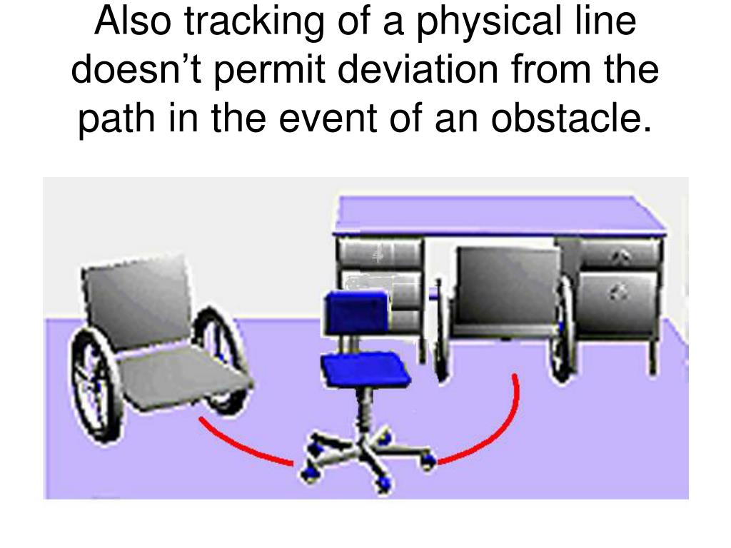 Also tracking of a physical line doesn't permit deviation from the path in the event of an obstacle.