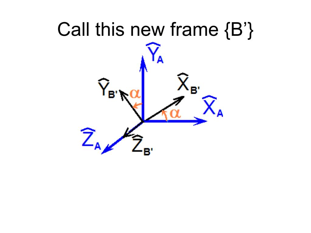 Call this new frame {B'}