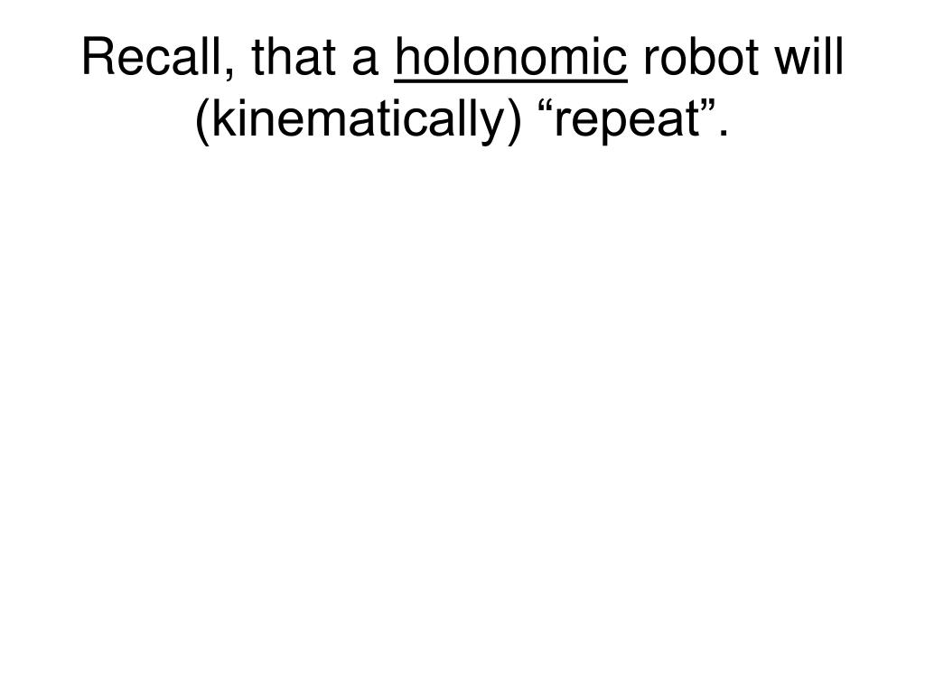 Recall, that a