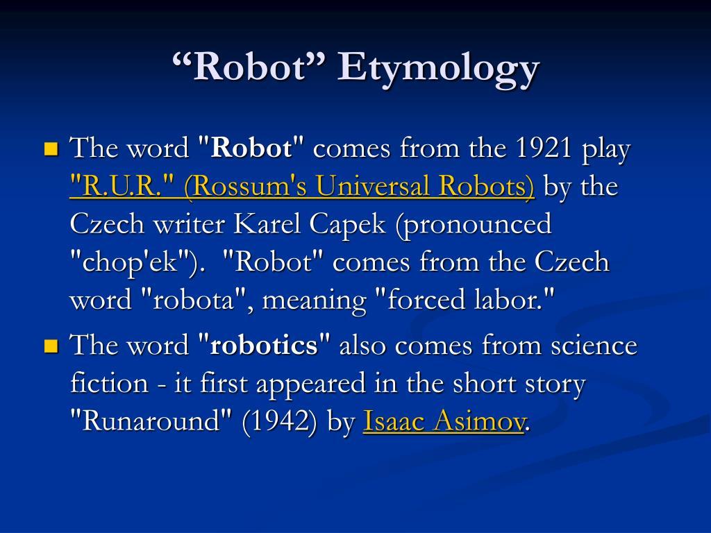 """Robot"" Etymology"