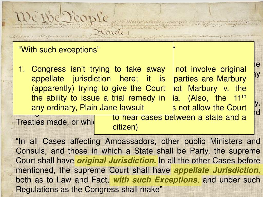 The Constitution --