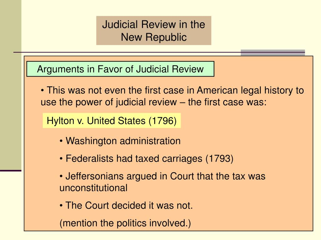 Judicial Review in the New Republic