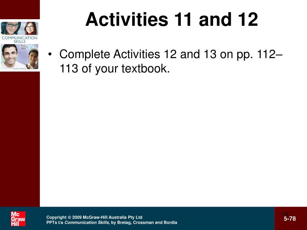 Activities 11