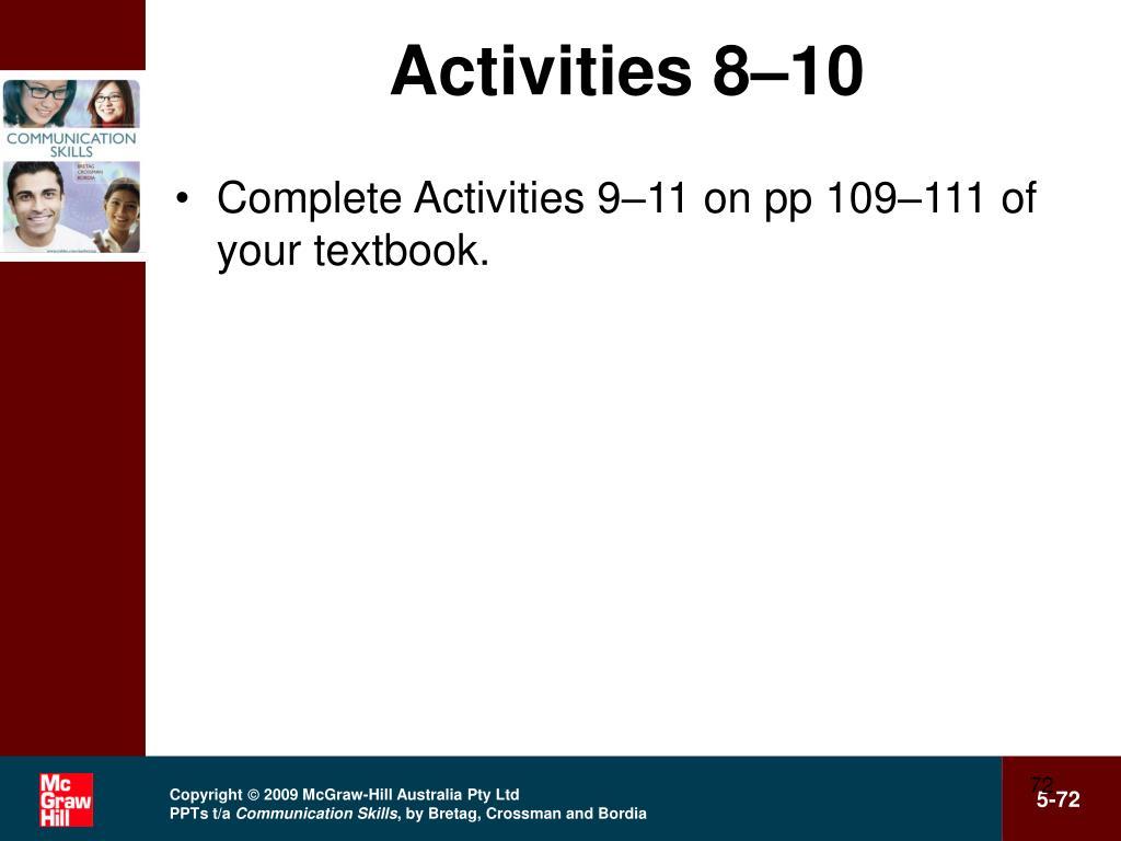 Activities 8