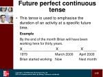 future perfect continuous tense