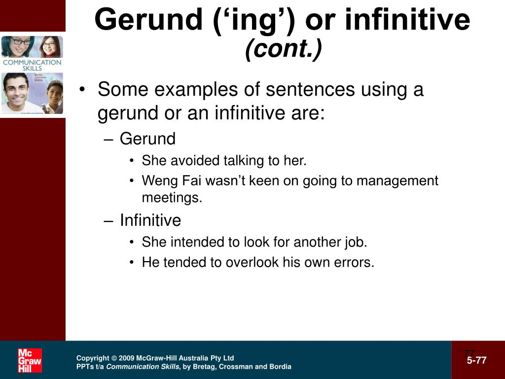 Gerund ('ing') or infinitive