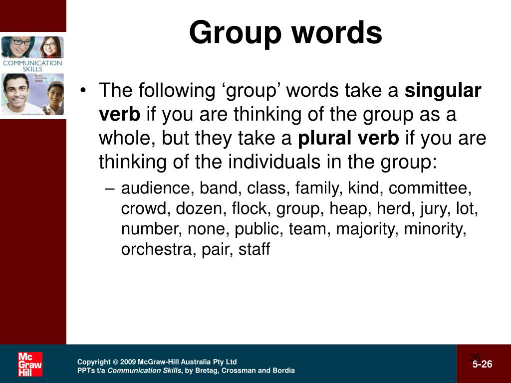 Group words