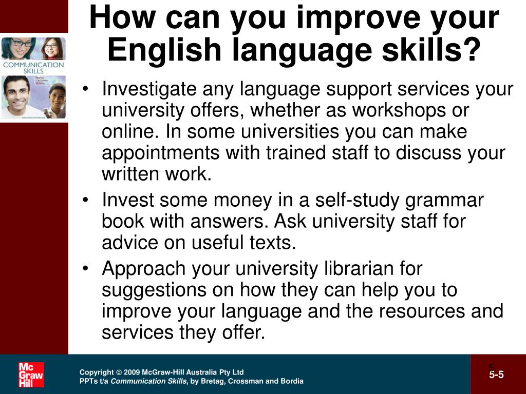 How can you improve your English language skills?