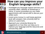 how can you improve your english language skills