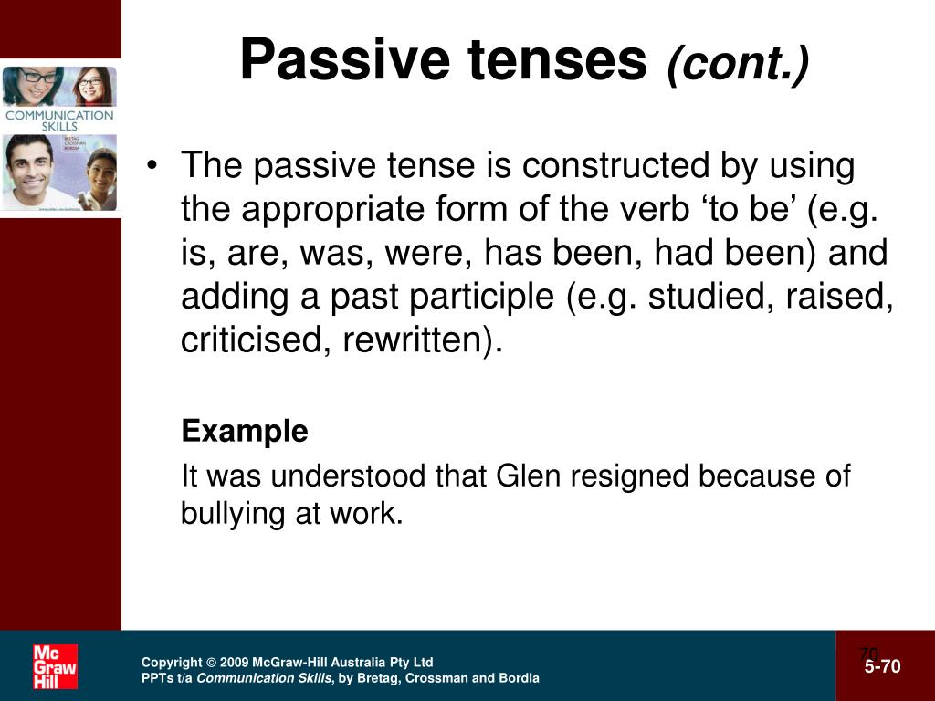 Passive tenses