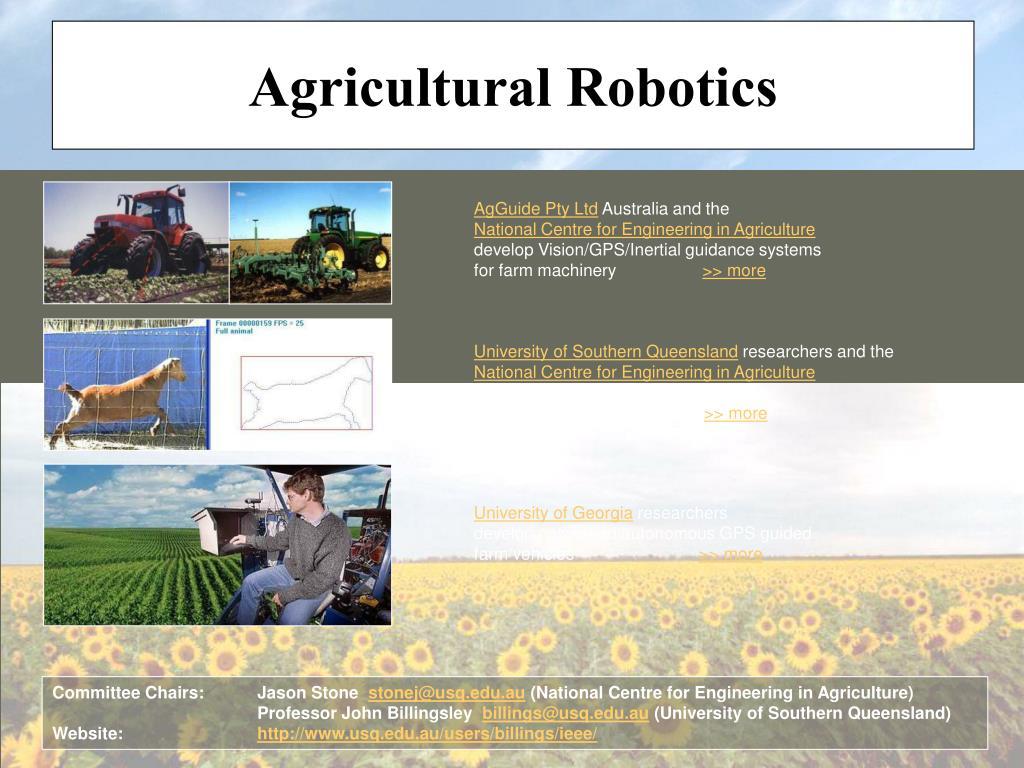 Agricultural Robotics