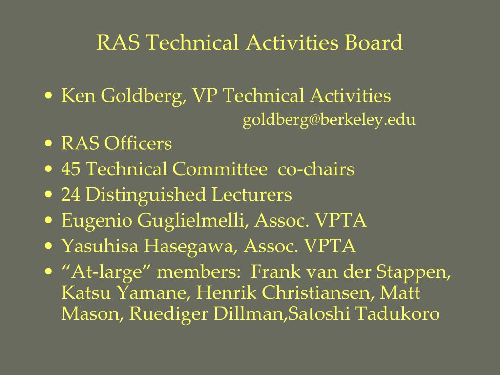 RAS Technical Activities Board