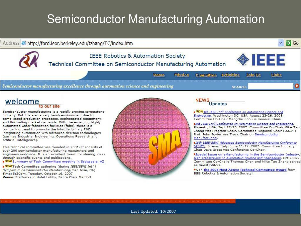Semiconductor Manufacturing Automation
