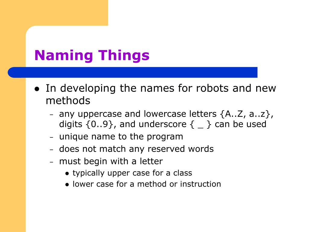 Naming Things