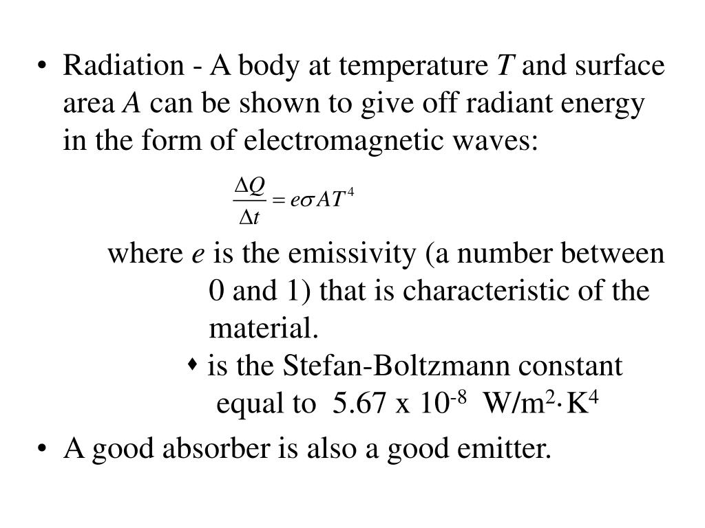 Radiation - A body at temperature