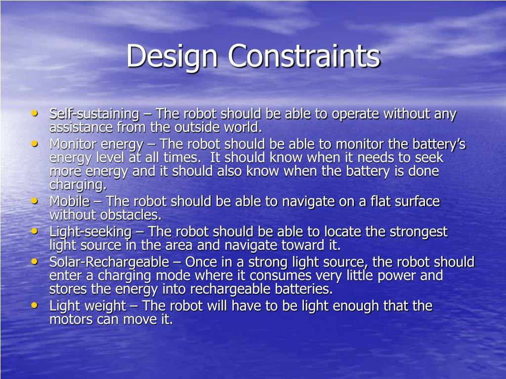 Design Constraints