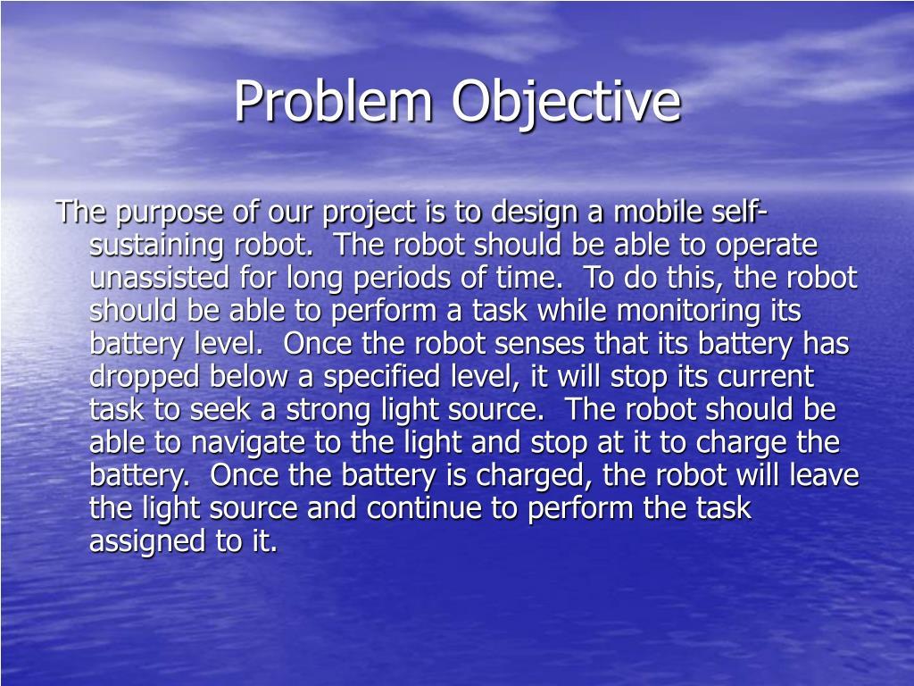 Problem Objective