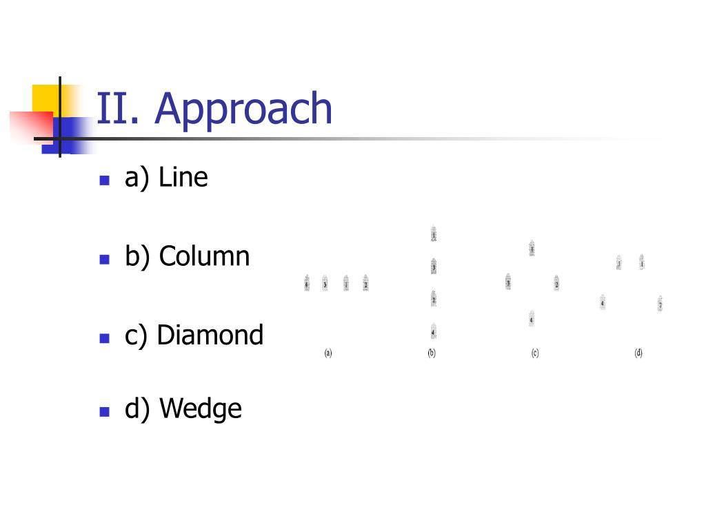II. Approach