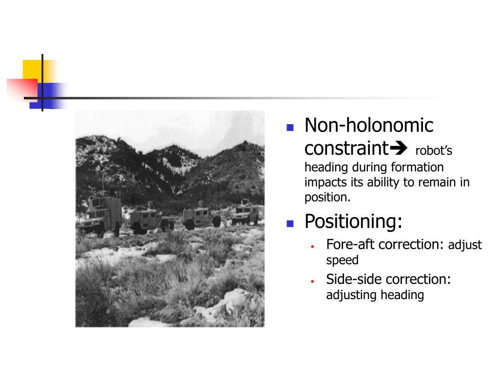 Non-holonomic constraint