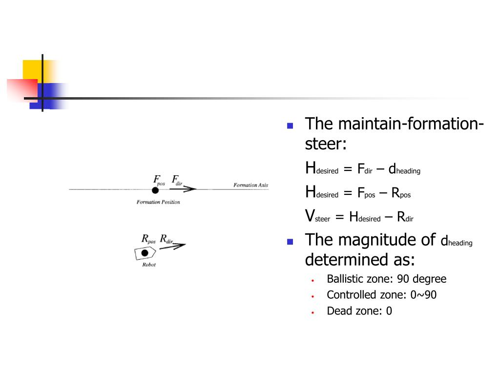 The maintain-formation-steer: