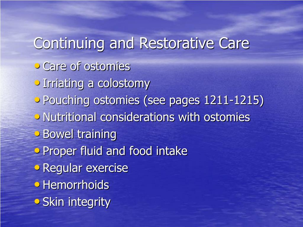Continuing and Restorative Care