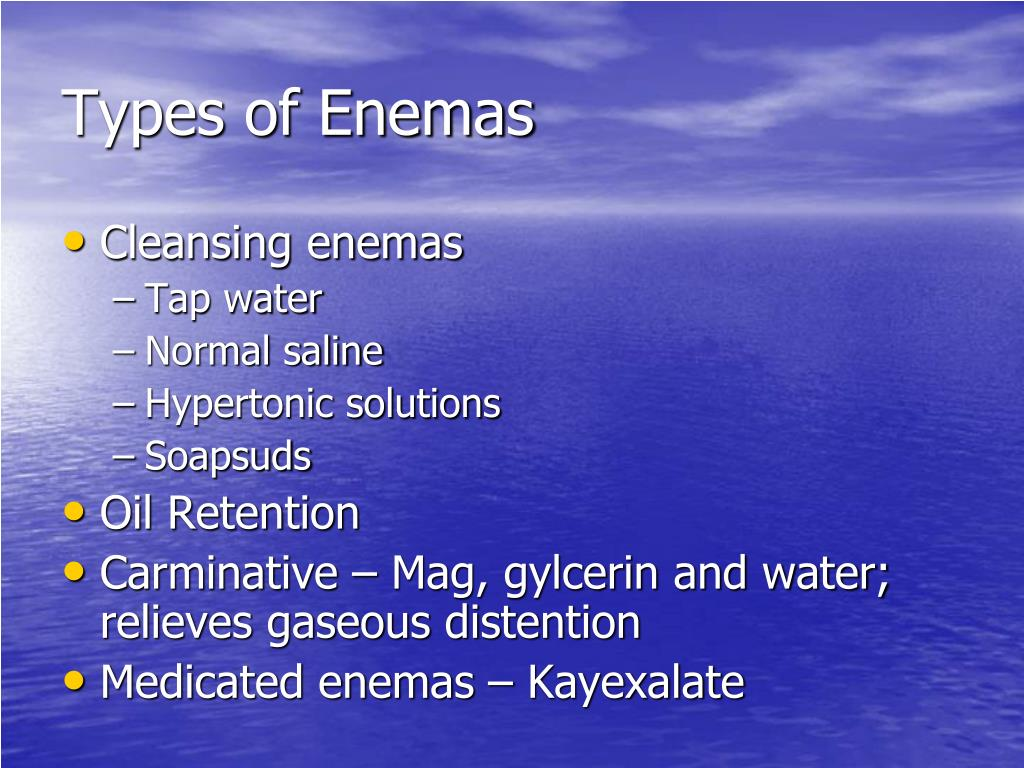 Types of Enemas