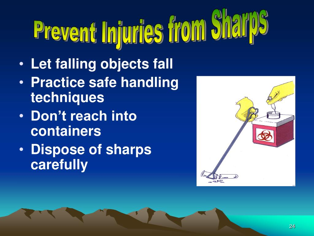Prevent Injuries from Sharps