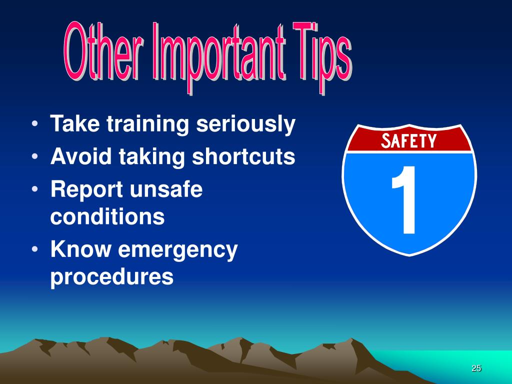 Other Important Tips