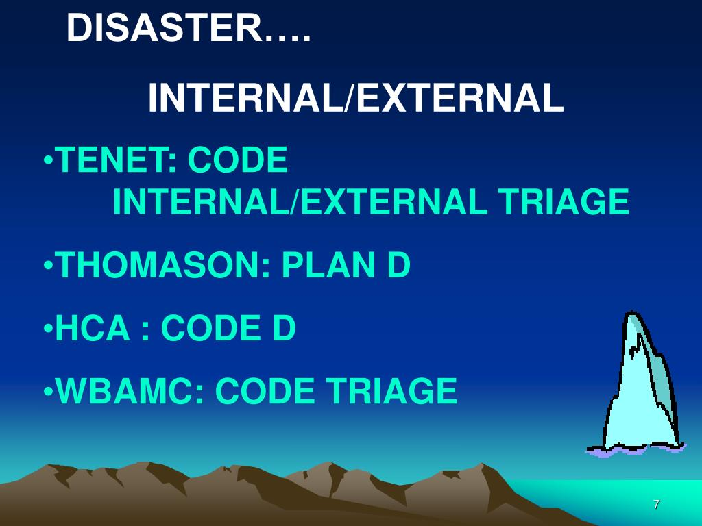 DISASTER….