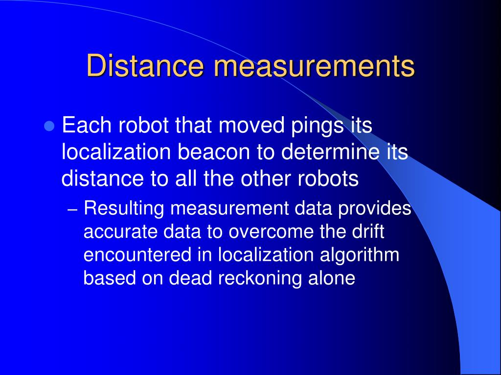 Distance measurements