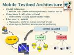 mobile testbed architecture