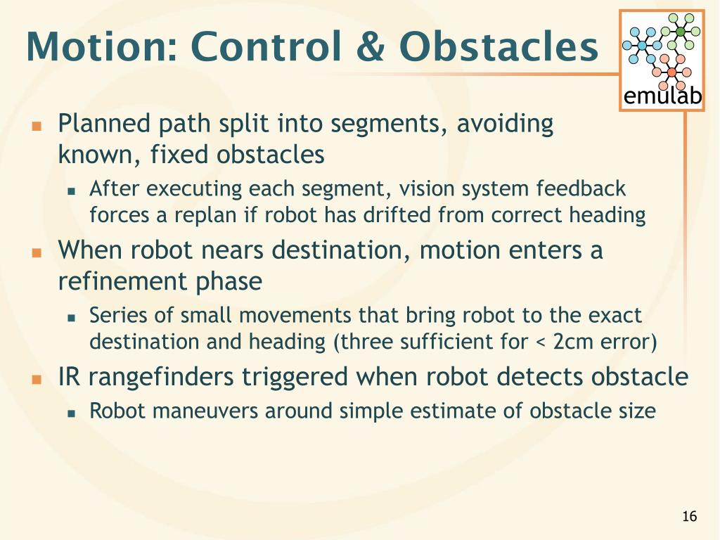 Motion: Control & Obstacles