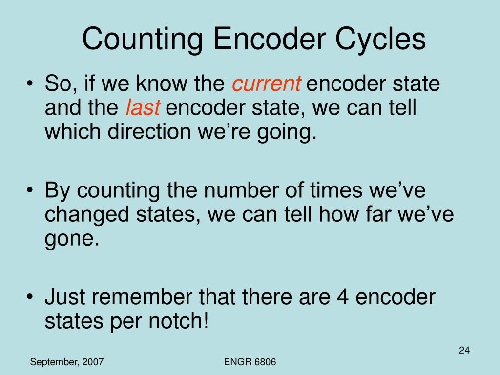Counting Encoder Cycles
