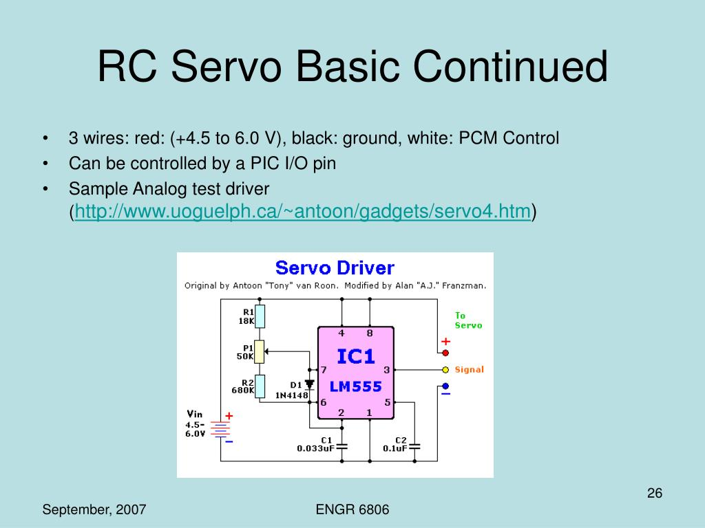 RC Servo Basic Continued