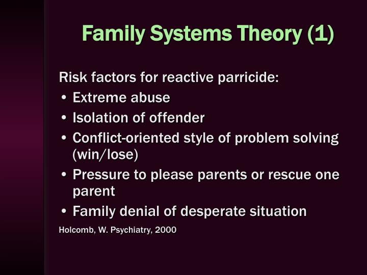adolescent and family systems paper This paper will give an overview of murray bowen's theory of family systems   therapy where the therapist focused on supporting her through adolescent life.