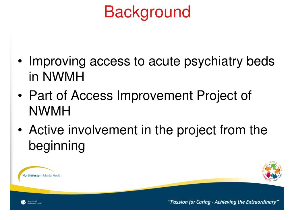 Improving access to acute psychiatry beds in NWMH