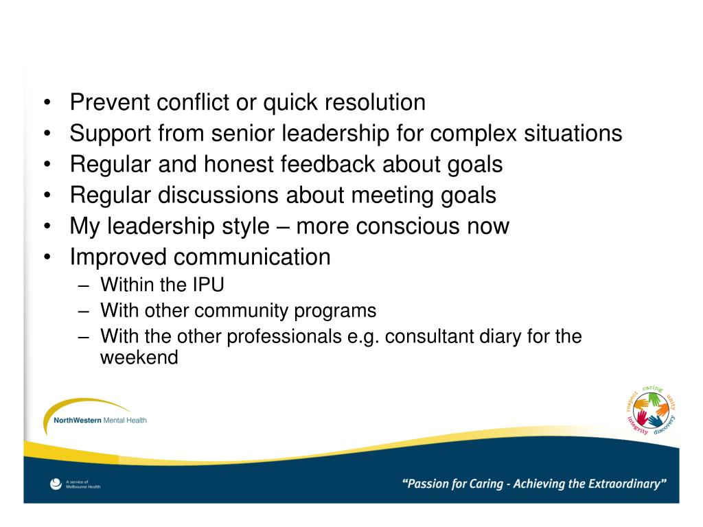 Prevent conflict or quick resolution