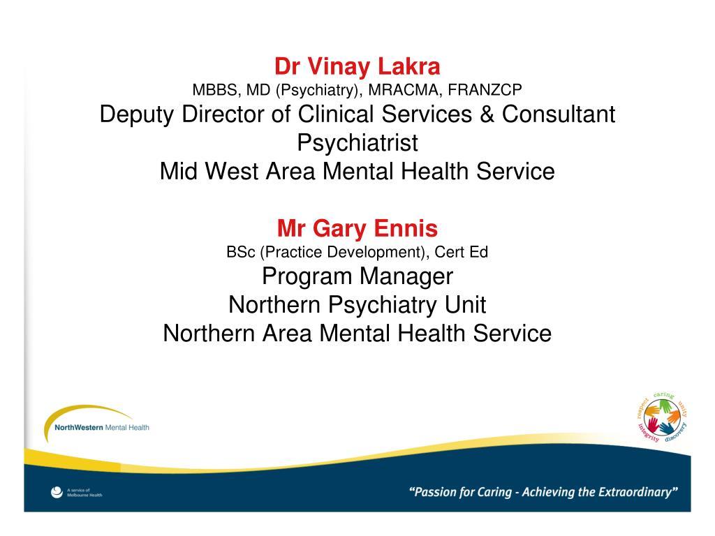 Dr Vinay Lakra