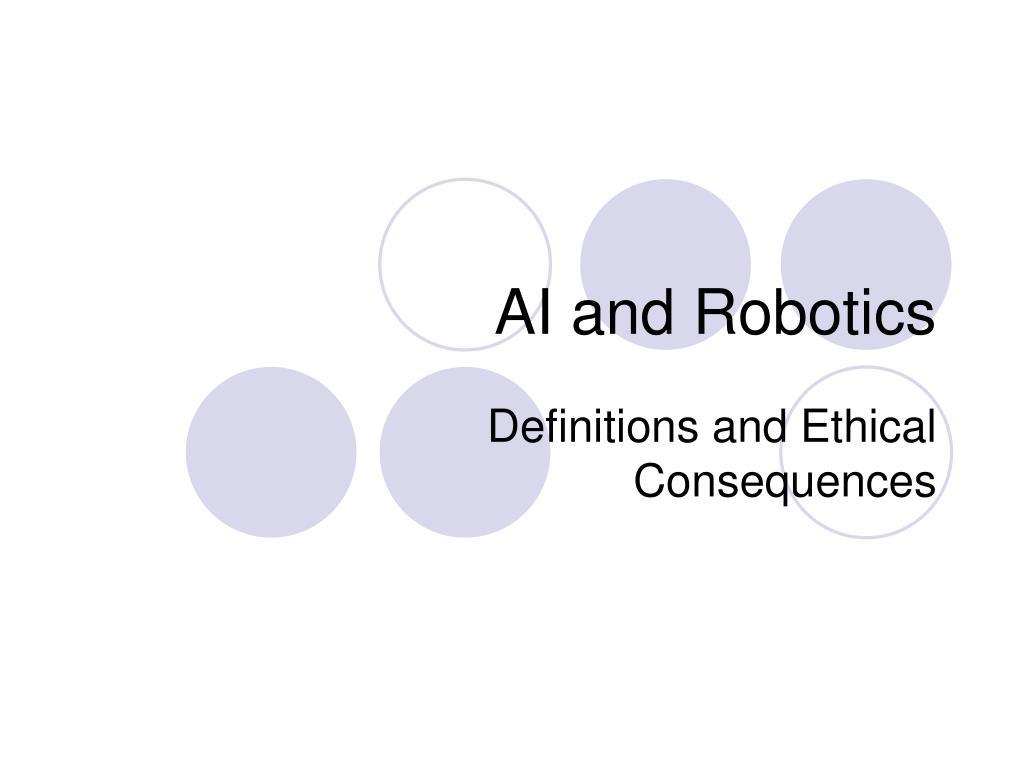 AI and Robotics